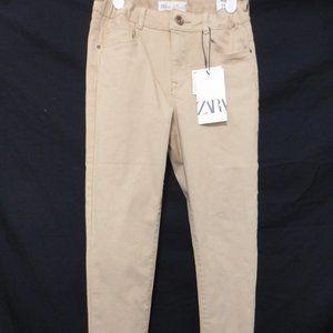 ZARA, size 10 years, skinny tan casual pants, BNWT